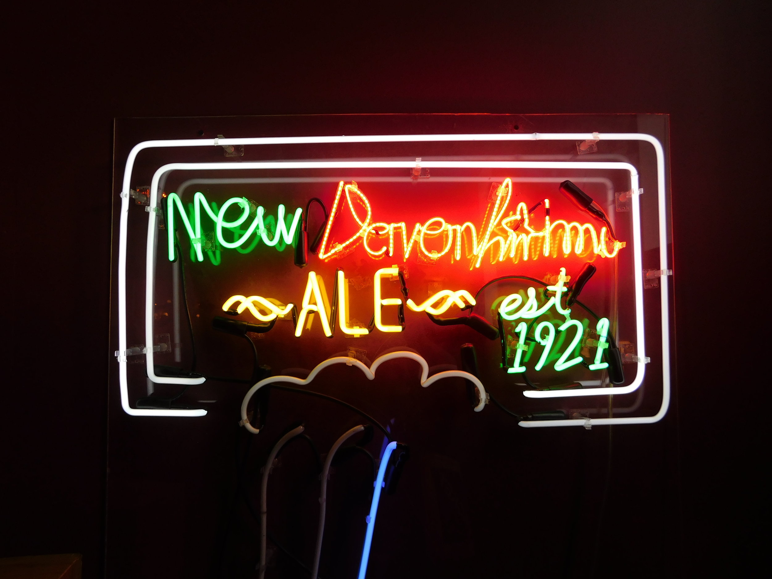 New Davonhaime Beer Sign 2  (2016), neon, 36 x 36 inches. Photo by the author.