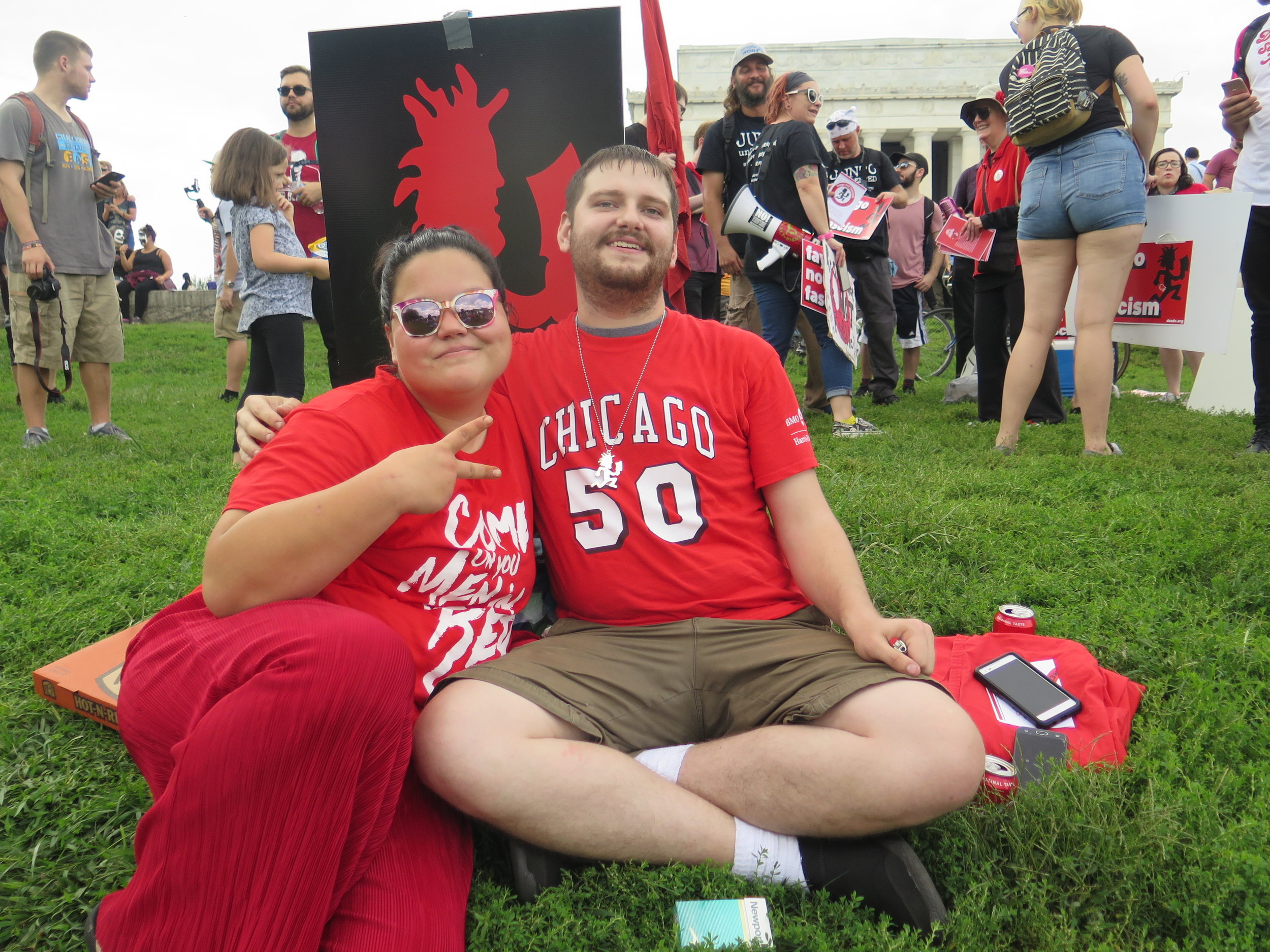 Tina and Mike, representing the Juggalo and Juggalette community of Chicago.