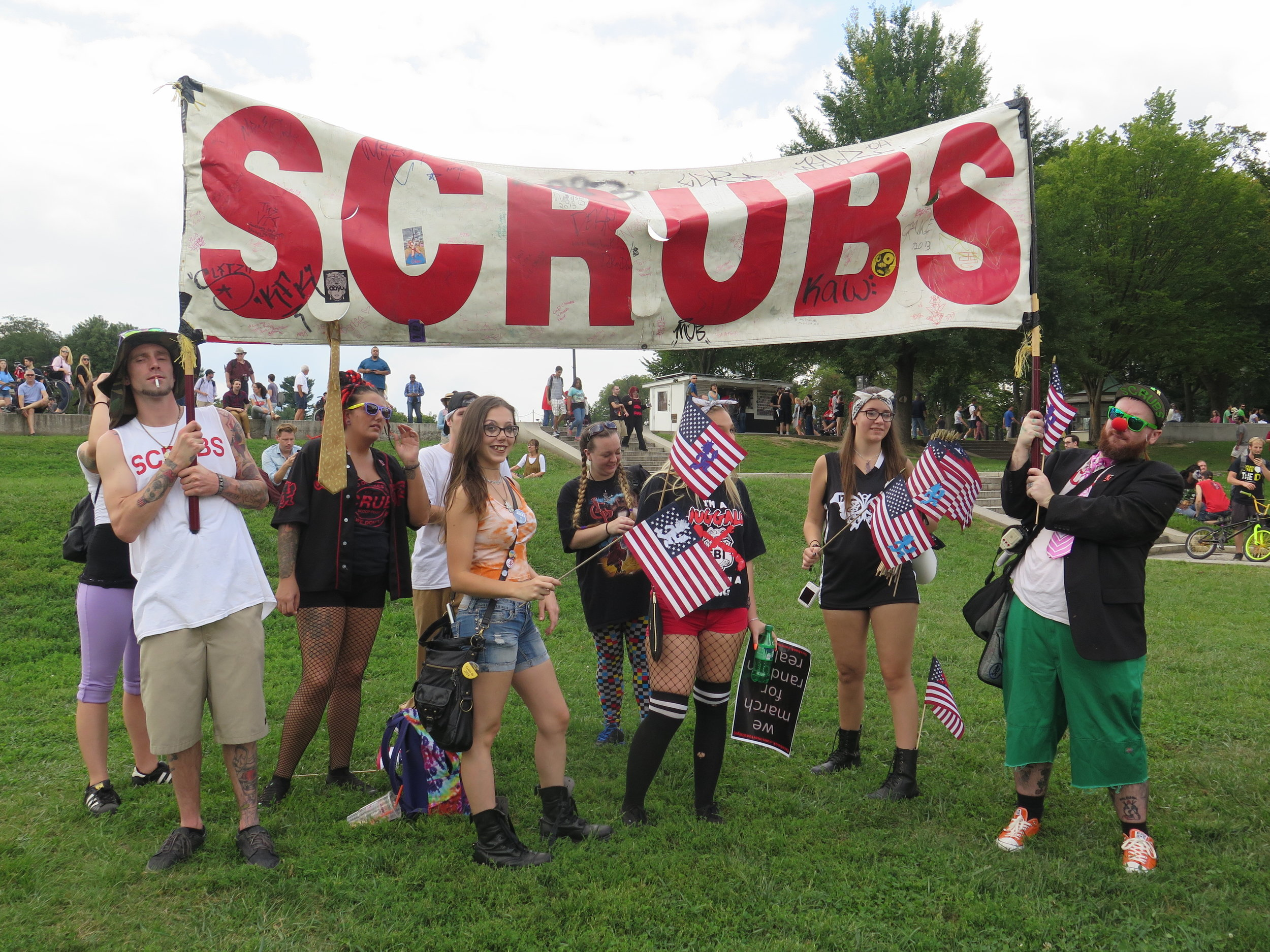 YES SCRUBS. This banner was a major hit at the march.