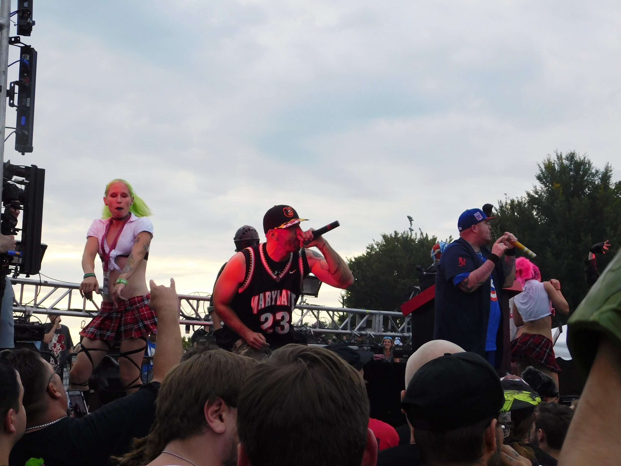 WOLFPAC performing on the National Mall.
