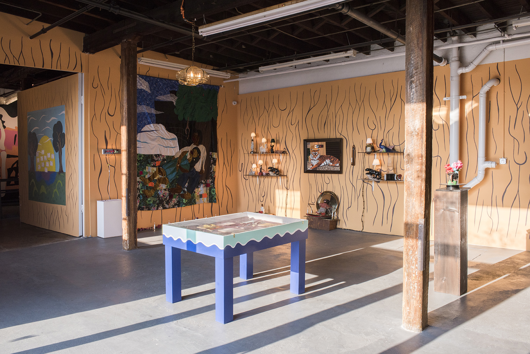 """Jimmy's Thrift of New Davonhaime,"" installation view. Photo courtesy of the artist."