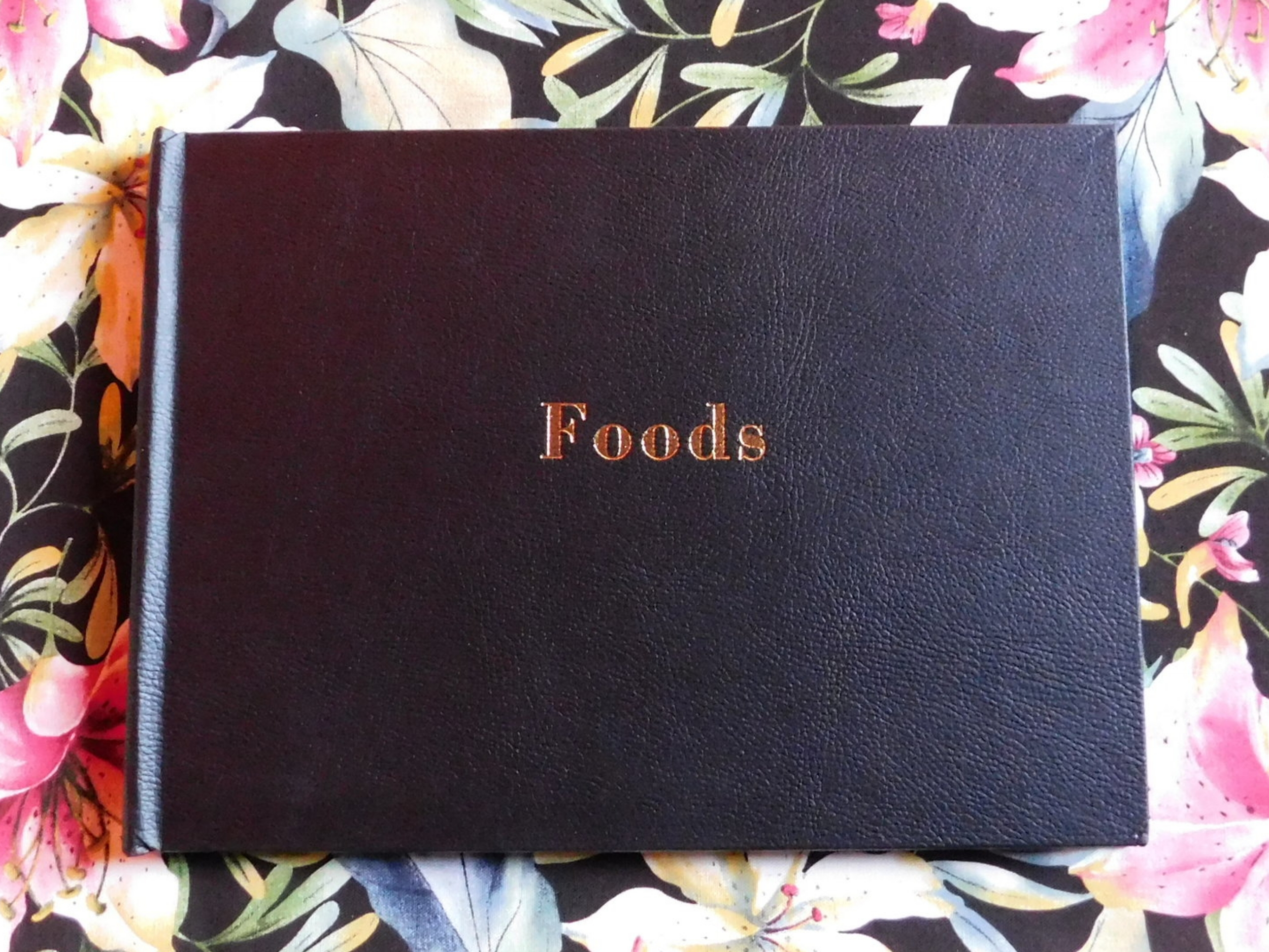 Foods  (2017), artist books. Photo by the author.