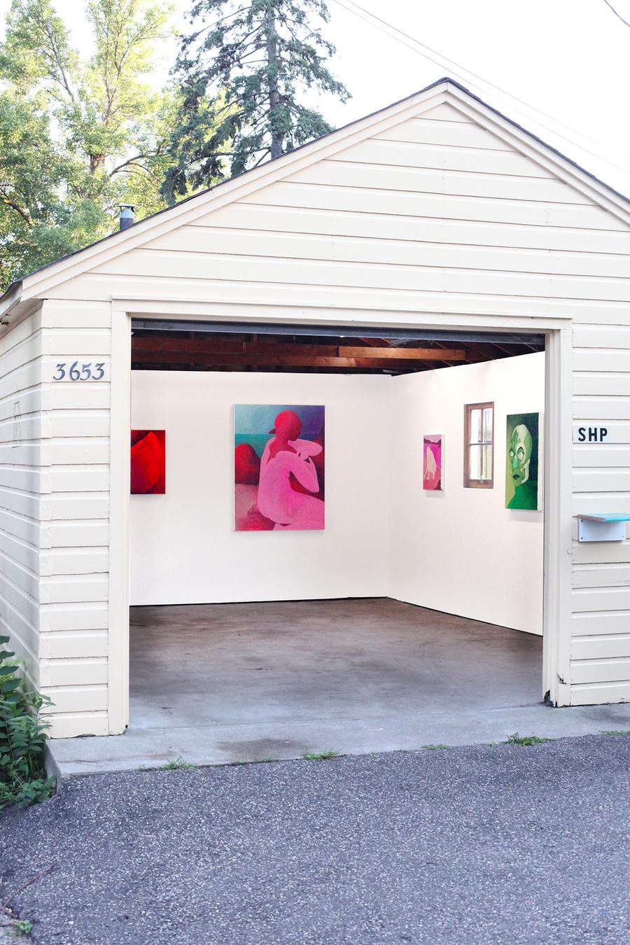 "Installation view of   Kristen Sanders  's   ""Soft Origin""   (2017) at Sadie Halie Projects, Minneapolis, MN"