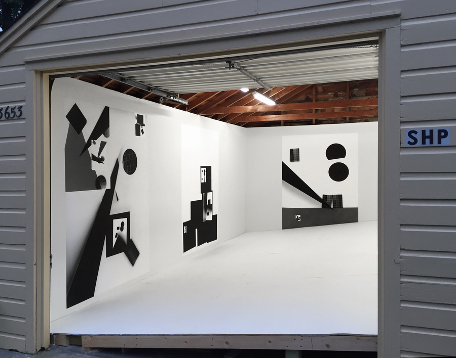 "Installation view of   Brittany Nelson  's   ""monuments to the conquerors of space""   (2016) at Sadie Halie Projects, Minneapolis, MN"