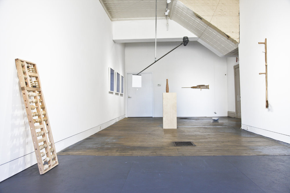 """Installation view of the two-person exhibition  """"All Sounds Concern Me""""  (2017) by Jodie Cavalier and James Maurelle at Anytime Dept., Cincinnati, OH"""