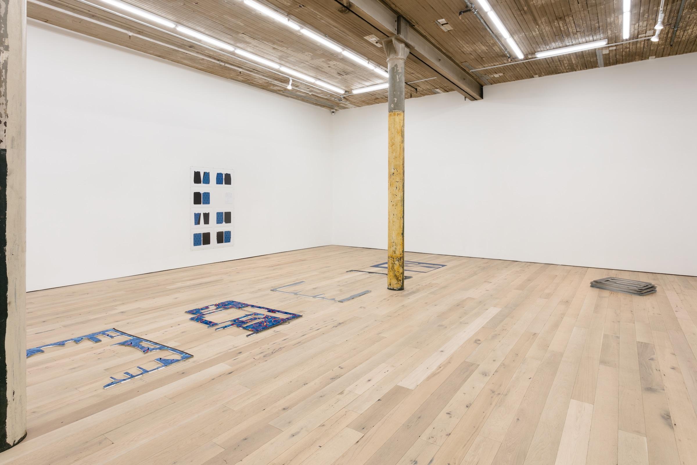 "Installation view of Jessica Vaughn's  ""Receipt of Form""  at Martos Gallery, New York, NY, October 26 through December 10, 2017"