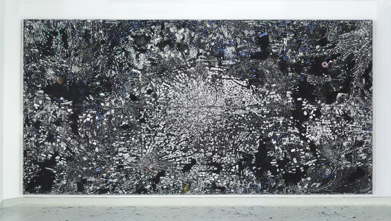 Jack Whitten,  Atopolis: For Édouard Glissant  (2014), acrylic on canvas