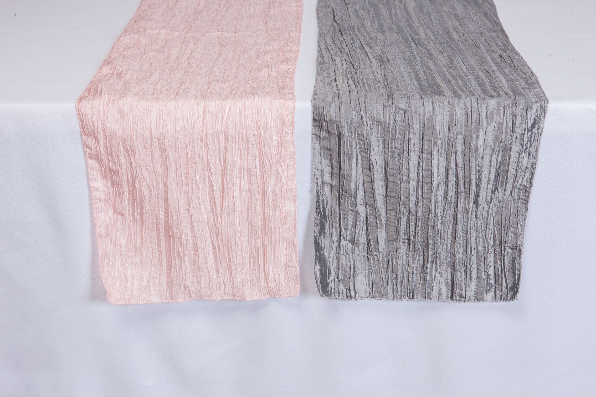 Pink & Charcoal Gray Accordion Taffeta