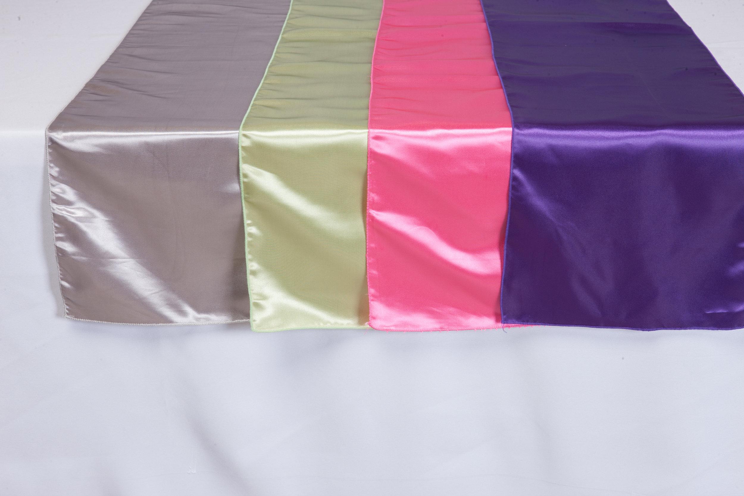 Silver, Sage, Pink, Purple Bridal Satin