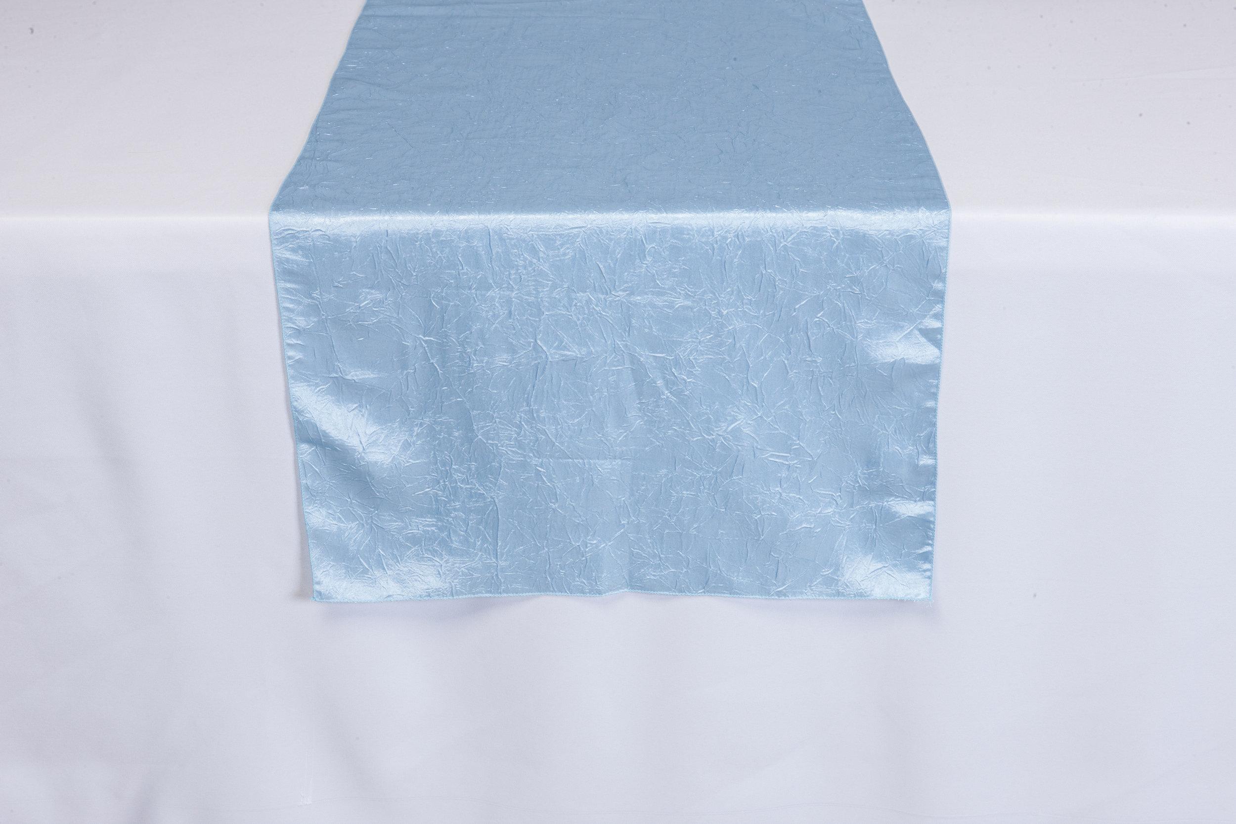 Blue Crushed Satin