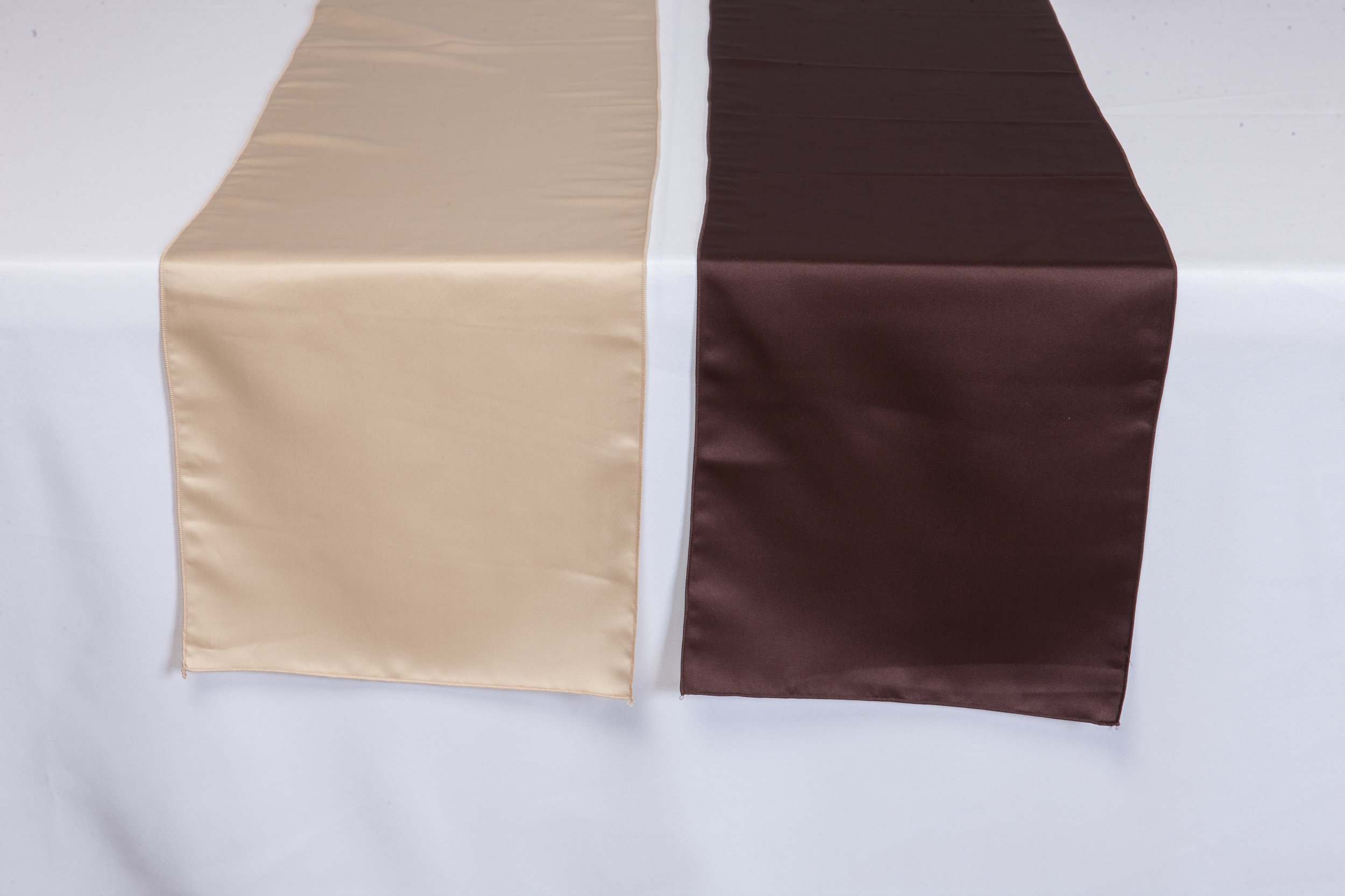 Beige, Brown Lamour Satin
