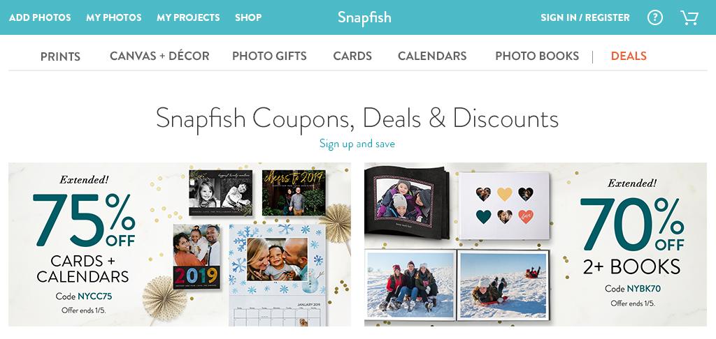 Website's deals page hero tiles (Photoshop, Illustrator)