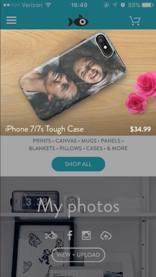 Mobile application tile (Photoshop)