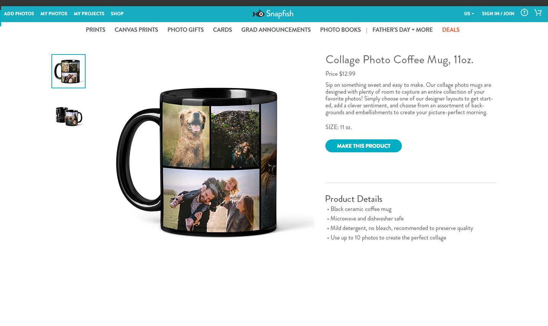 Product description page (Photoshop)
