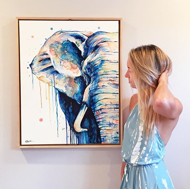 Reminiscing on the days when my life was carefree ✨... and not so incredibly hectic🤯 . . . . . . . . . . #LindsayMichelleART #Elephant #artshow #commissioned #custom #animalpainting #houstonartist #animalart #animalartwork #art #artist #artwork #watercolor #ink #instaart #instaartoftheday #artcollective #artistofinstagram #worldofartists #arthomepage #dailyarts #artwork_in_studio #artfeature