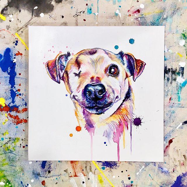Always winkin' at ya 😜 . . . . . . . . . . . #LindsayMichelleART #Elephant #artshow #commissioned #custom #animalpainting #houstonartist #animalart #animalartwork #art #artist #artwork #watercolor #ink #instaart #instaartoftheday #artcollective #artistofinstagram #worldofartists #arthomepage #dailyarts #artwork_in_studio #artfeature