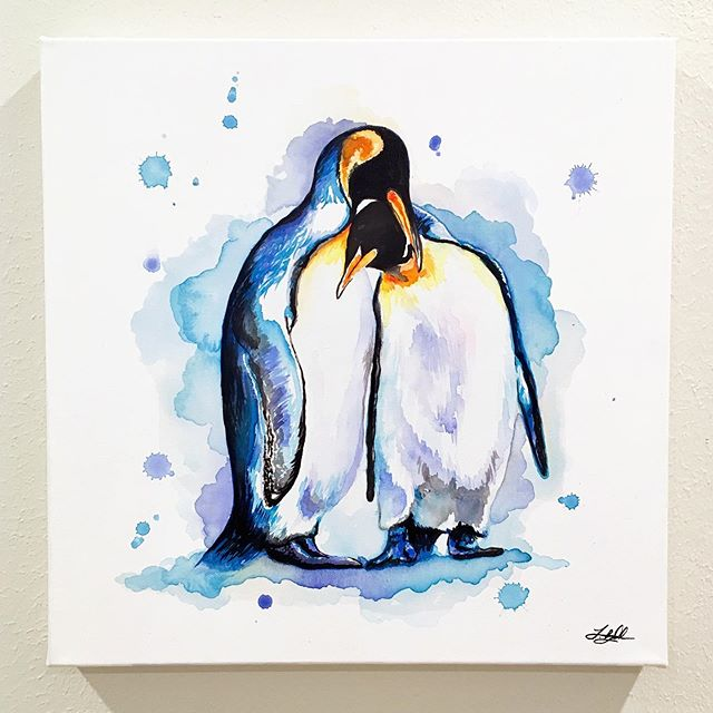 It's one of my best friends 30th birthday today!!!🥳 One of the funniest, craziest, genuine and loyal people I know! I hope you have the best day ever 🐧 . . . . . . . . . . . . #LindsayMichelleART #penguin #gift #present #surprise #custom  #animalpainting #houstonartist #animalart #animalartwork #art #artist #artwork #watercolor #ink #instaart #instaartoftheday #artcollective #artistofinstagram #worldofartists #arthomepage #dailyarts #artwork_in_studio #artfeature