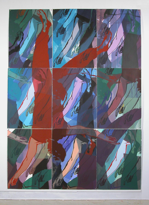 Jours de pluie II: figure rouge (Rainy Days II: Red Figure), 2008