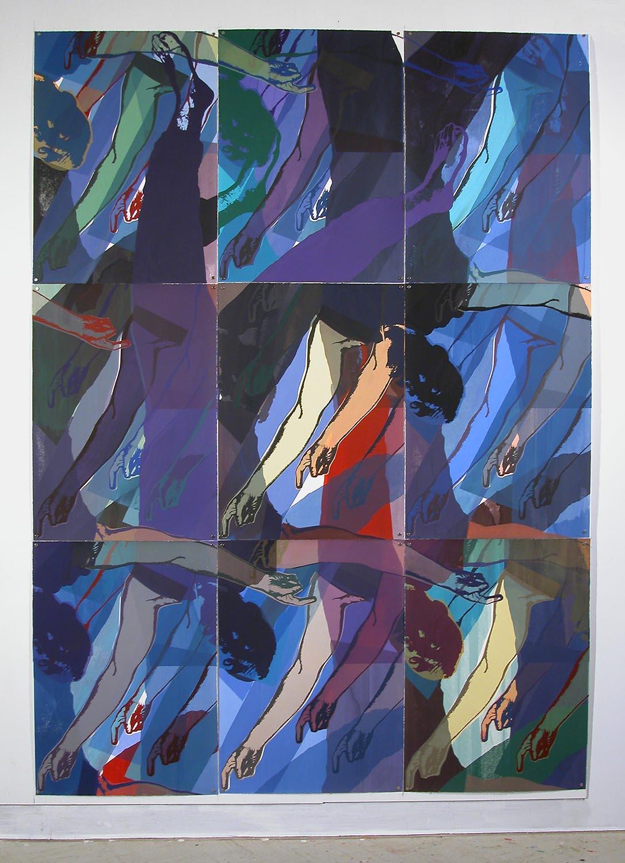 Jours de pluie III: figure violette (Rainy Days III: Violet Figure), 2008