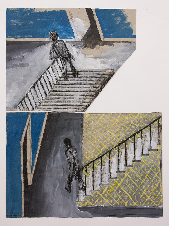 Dans l'escalier – pour un film (In the Stairs – for a film), 1988