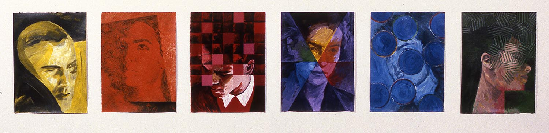 Six têtes : jaune, orange, rouge, violet, bleu et vert / Six Heads: Yellow, Orange, Red, Violet, Blue and Green, 1998