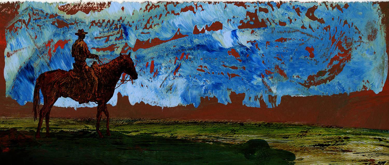 Cavalier dans un canyon (Horseman in s Canyon), 2010