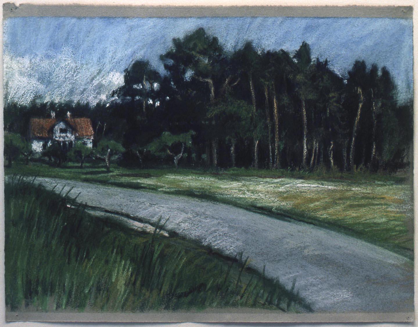 Maison et arbres, Visby, 1981