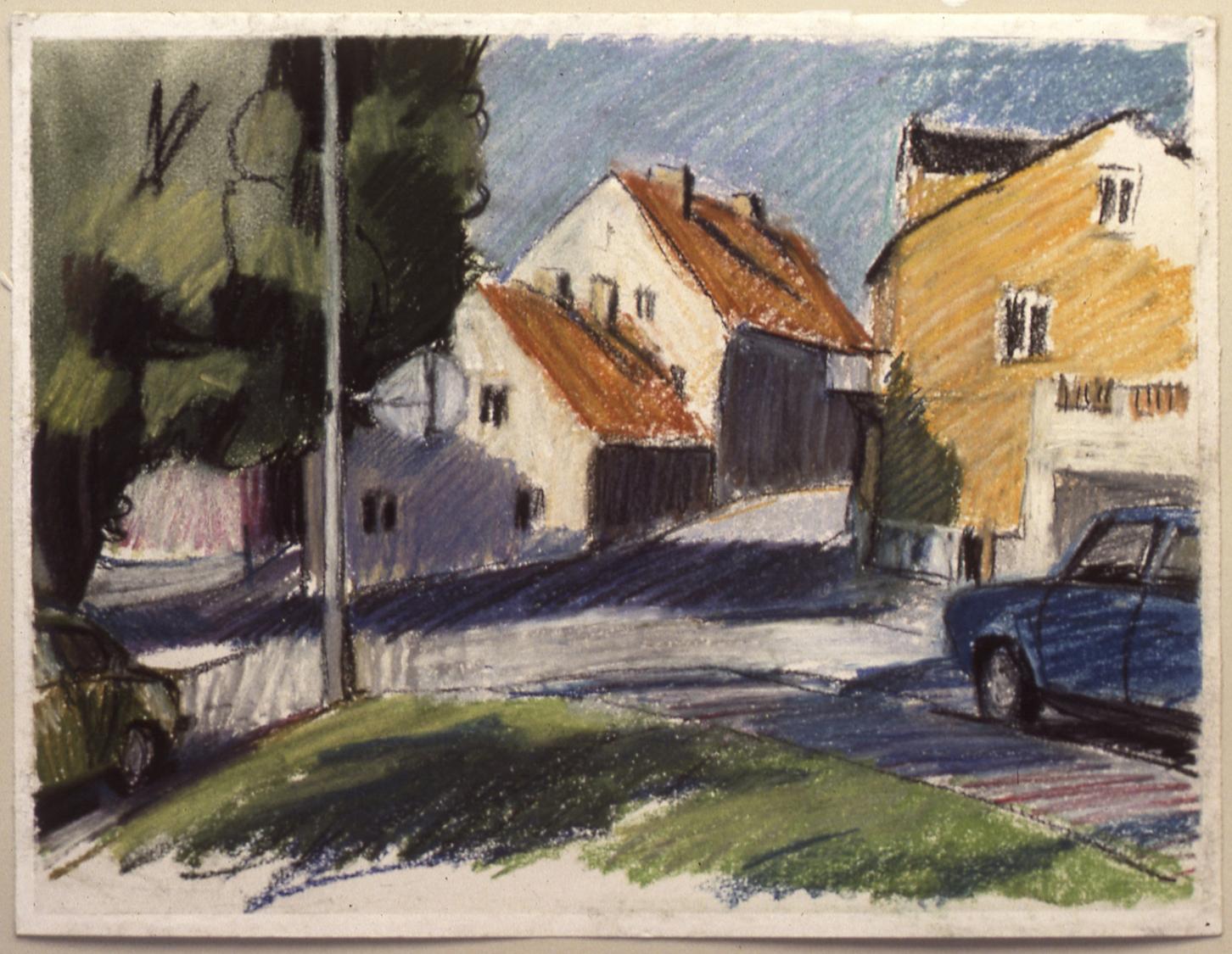 Maisons et auto, Visby, 1981