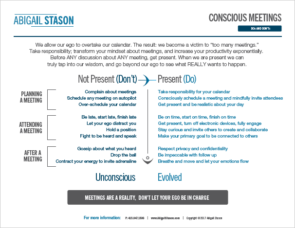 Conscious Meetings   (PDF) How to hold conscious, evolved meetings