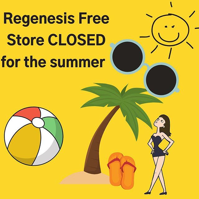 Regenesis Free Store at HNES 109 is CLOSED for the summer. However, we will be doing pop-ups at York University! Keep posted for pop- up dates! #sustainableliving #freestore #freestuff #sustainability #yorku #popupshop #regenesis #campuslife #summer #summersemester  #sun #beachball #summeroutfit #freesummer