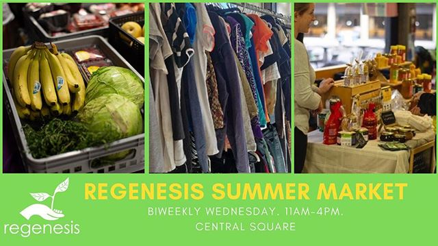 Visit the the Regenesis Summer Market: featuring Regenesis initiatives: YUM!, Cycle York and Free Store bi weekly, every Wednesdays  at Central Square (York University) from 11:00 AM-4:00 PM!  Schedule:  May 1, 15, 29 June 12, 26 July 10, 24 #cycling #farmersmarket #freestore #regenesis #sustainable #campuslife #students #yorku #campusgirls #donate #freeclothes #bike #food