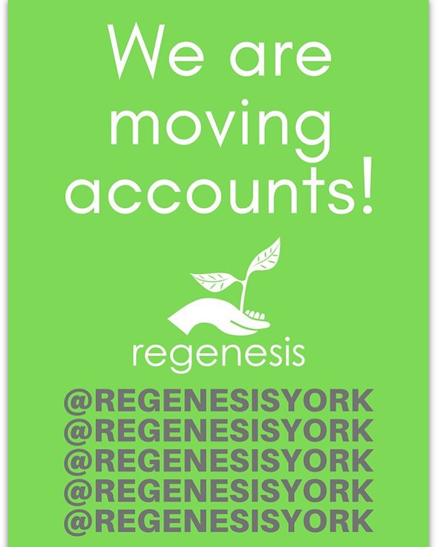 We have moved! This account will no less need be active. Please follow our mail account @regenesisyork @regenesisyork @regenesisyork @regenesisyork @regenesisyork #instagram #newaccount #follow4followback #follow #new #sustainability #campuslife #yorku #freeclothes #freestore #regenesis