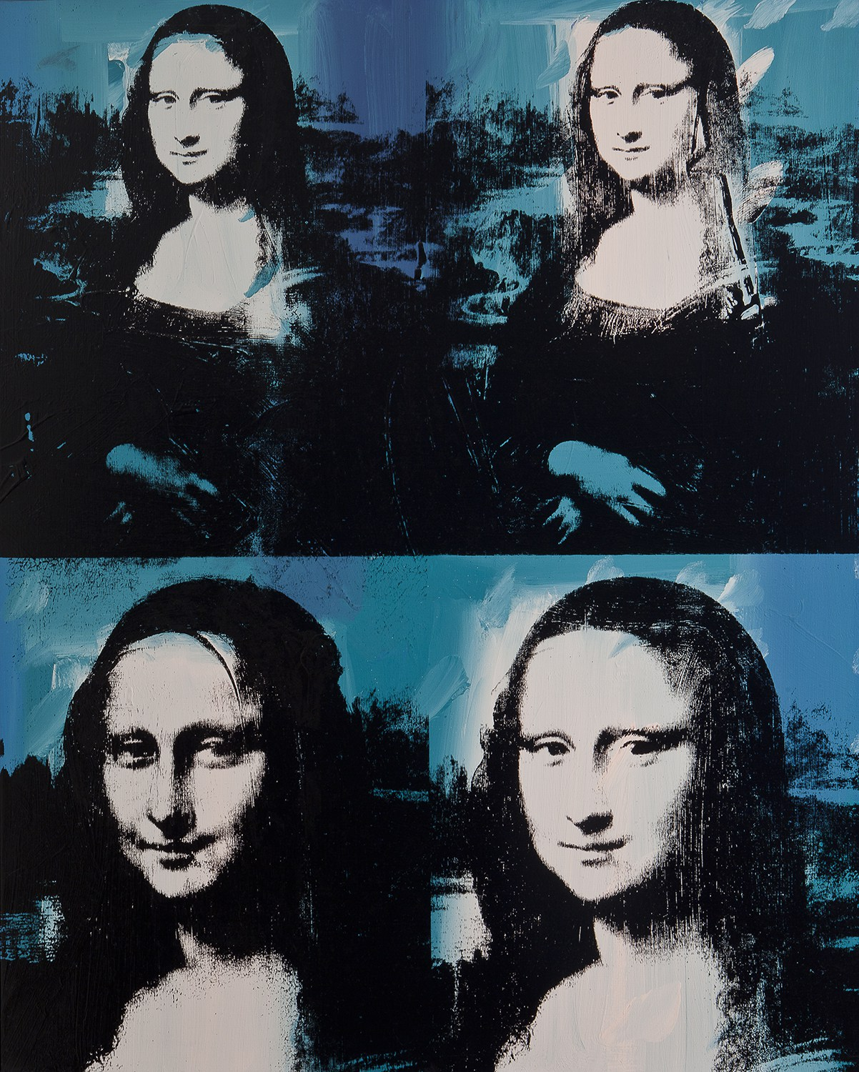 "Andy Warhol. ""Mona Lisa Four Times,"" 1978. The Art Institute of Chicago, Gift of Edlis/Neeson Collection. © 2015 The Andy Warhol Foundation for the Visual Arts, Inc./Artists Rights Society (ARS), New York."