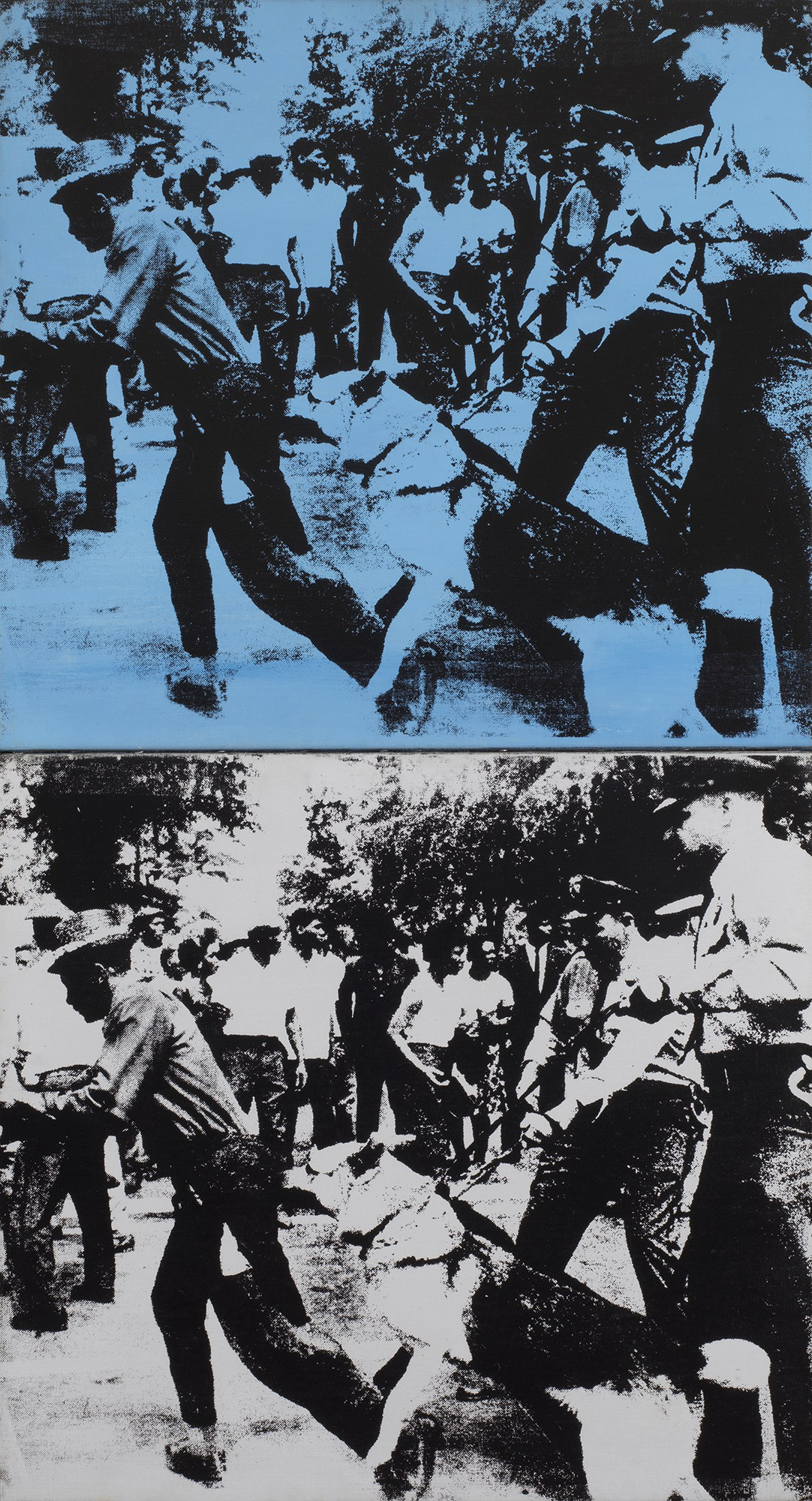 """Andy Warhol, """"Little Race Riot,"""" 1964, the Art Institute of Chicago"""