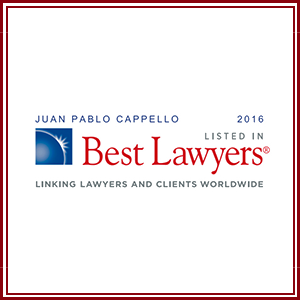 Juan Pablo Cappello  named to the 2016 Best Lawyers List.