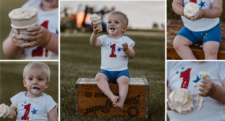 One Year Birthday Ice Cream Smash {Terry Farms Photography}