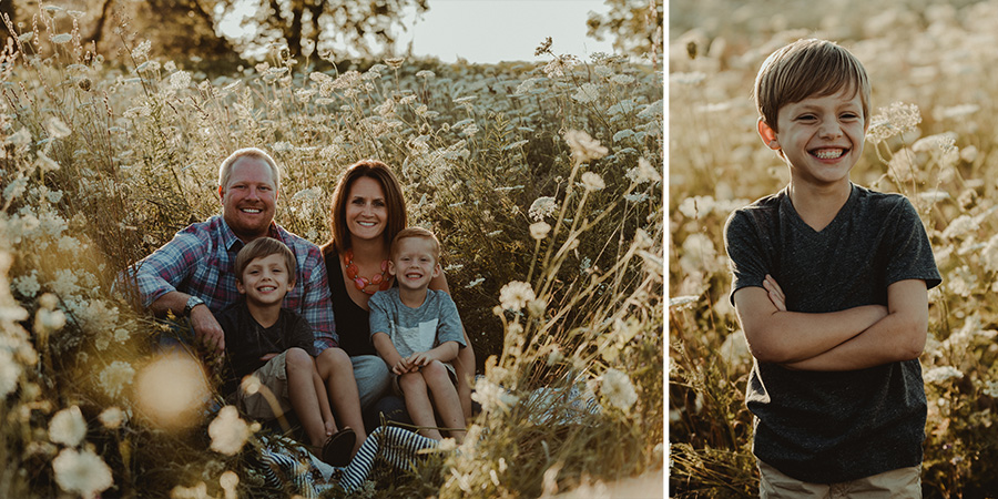 Queen Anne's Lace Golden Hour Family Session [Terry Farms Photography]