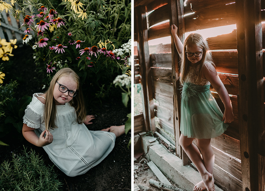 Golden birthday garden Session [Terry Farms Photography]