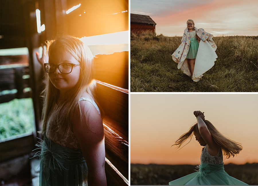 Sunset Golden Birthday Farm Session [Terry Farms Photography]