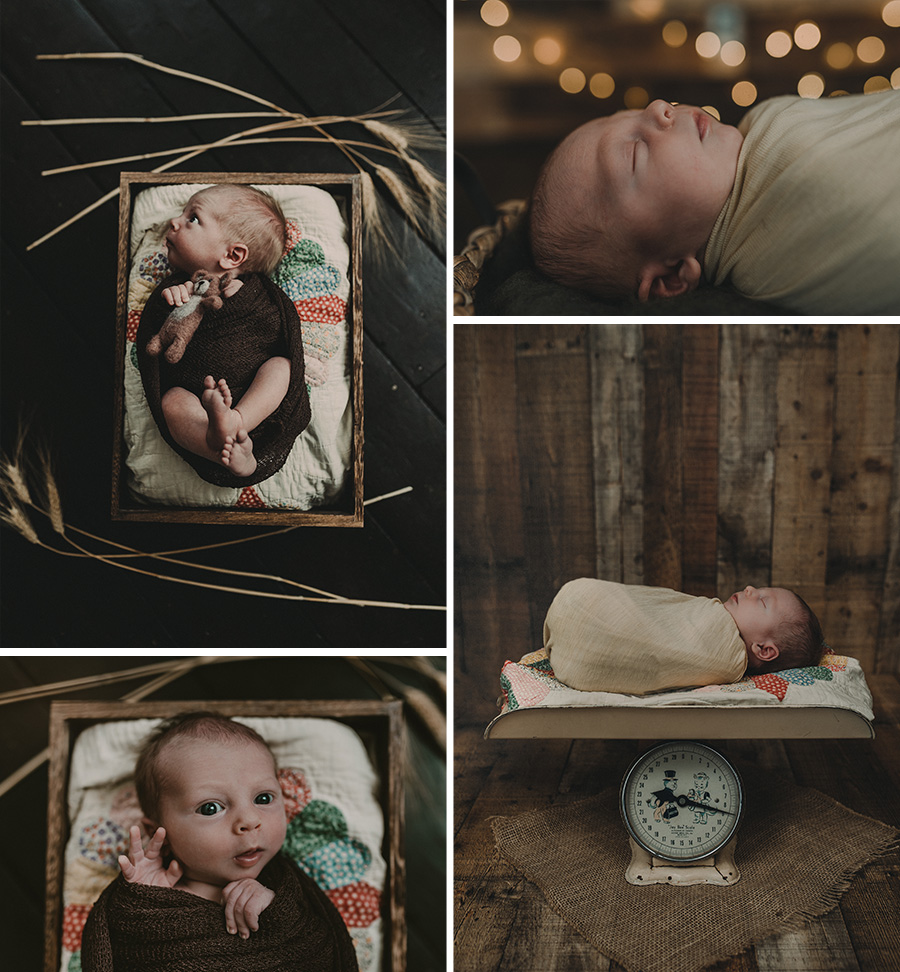 Rustic Farm Newborn Boy Session [Terry Farms Photography]