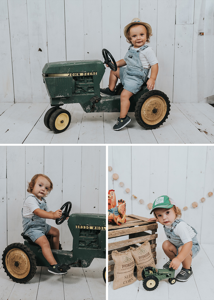Tractor Farm Session | Henrik 18 Months [Terry Farms Photography}