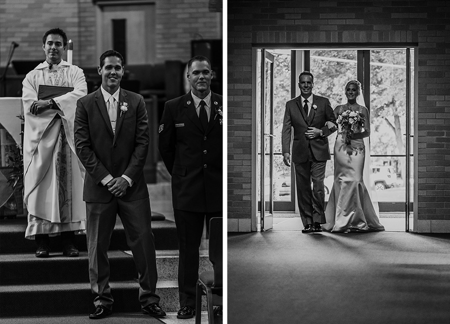 First Look, Catholic Wedding Ceremony [Terry Farms Photography]
