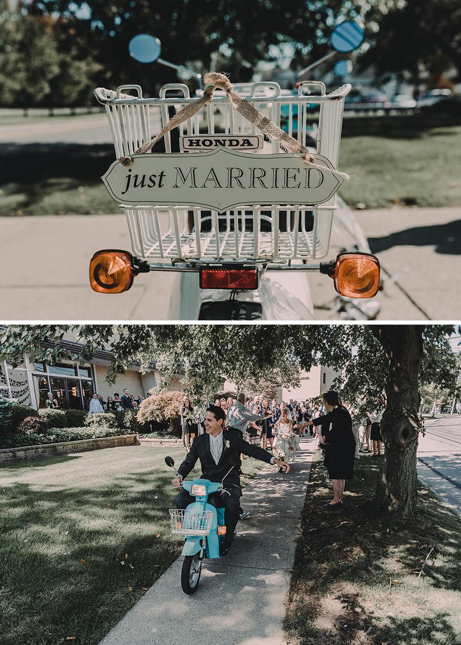 Ohio Wedding Scooters [Terry Farms Photography}
