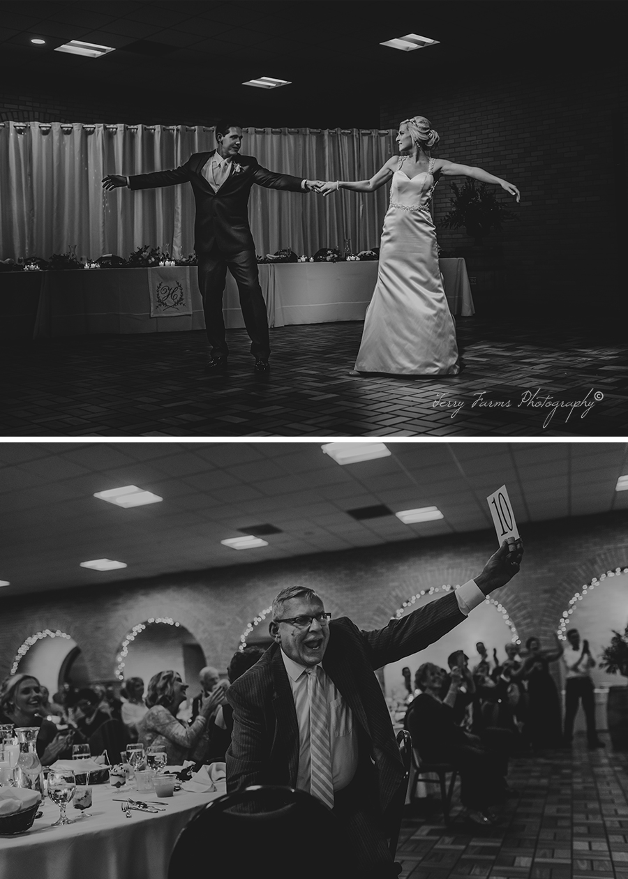Ohio Wedding Reception, First Dance [Terry Farms Photography]