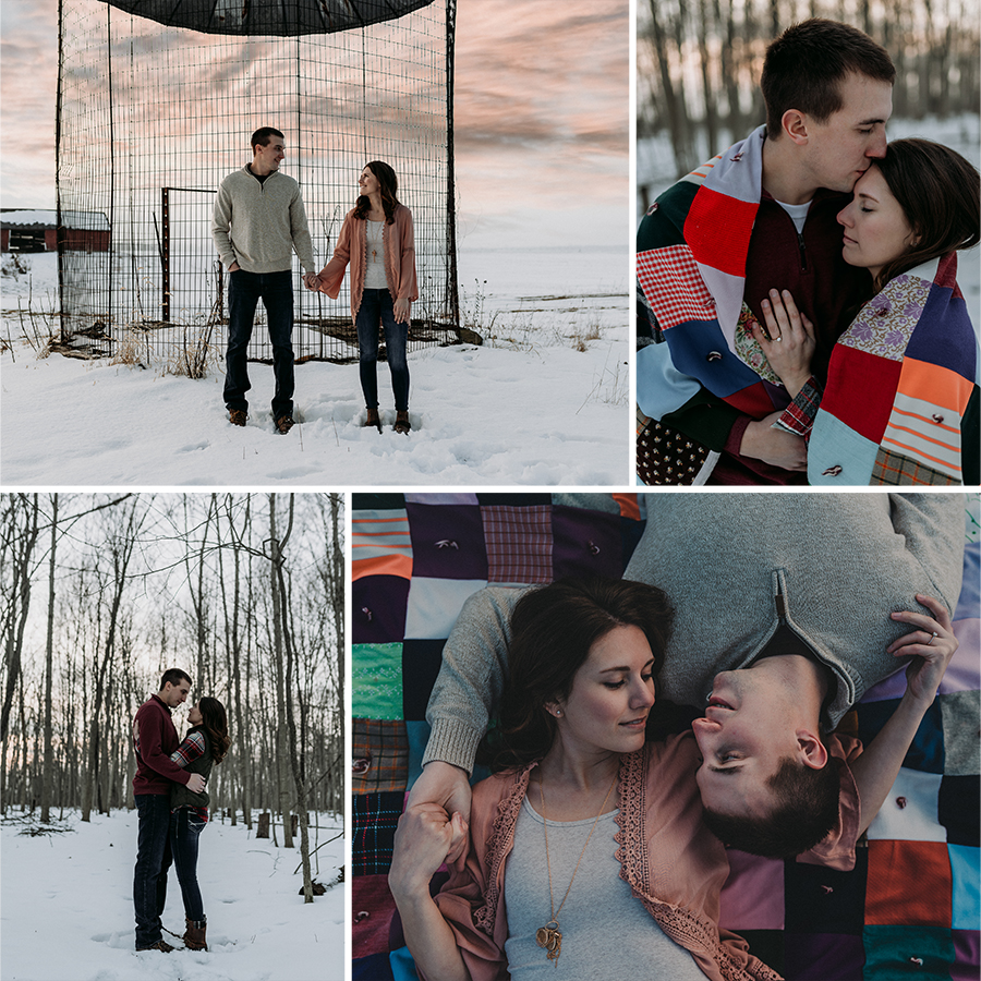 Winter Rustic Engagement Session on the Farm | Terry Farms Photography