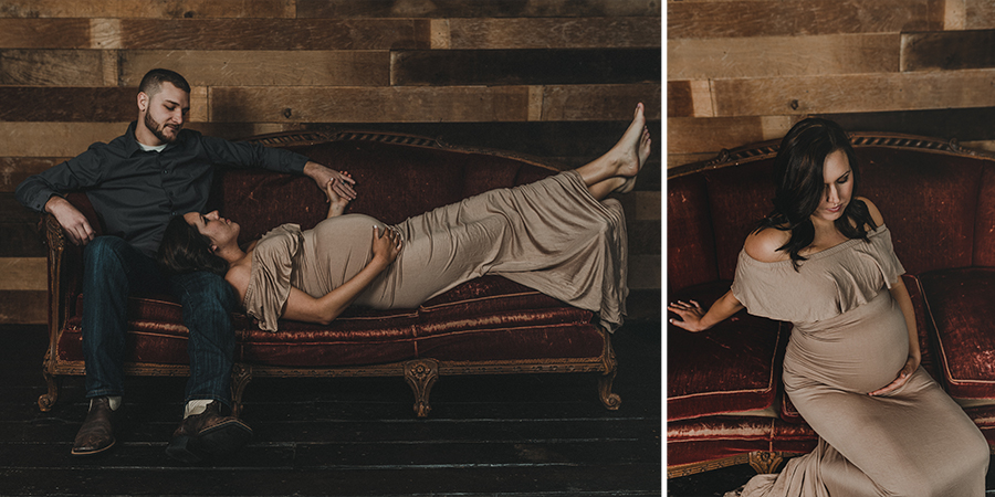 Vintage Winter Maternity Session | Terry Farms Photography
