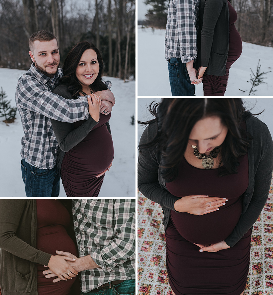 Winter Maternity Session | Terry Farms Photography