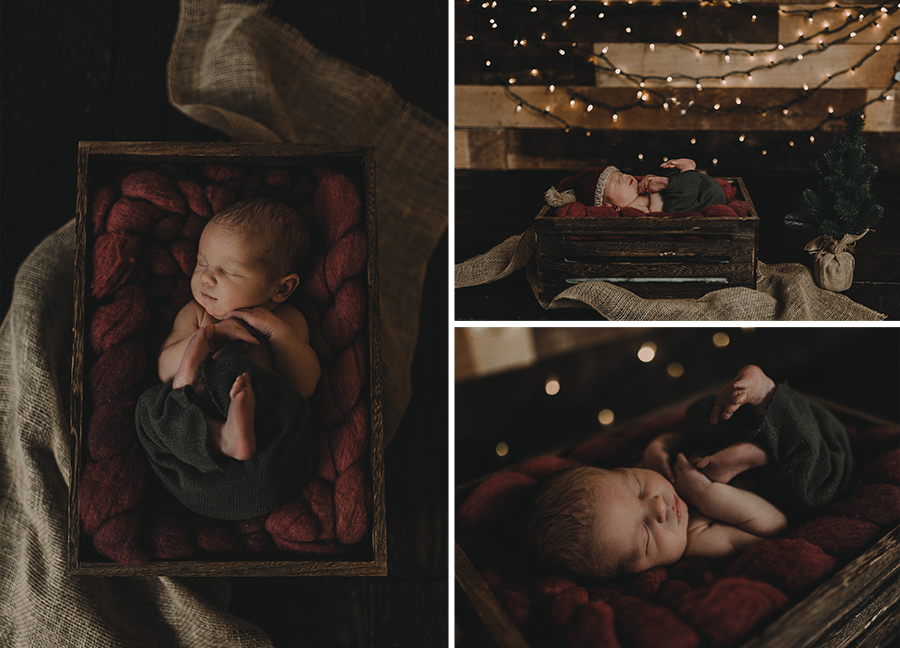 Rustic Farm Newborn Boy Christmas Session | Terry Farms Photography