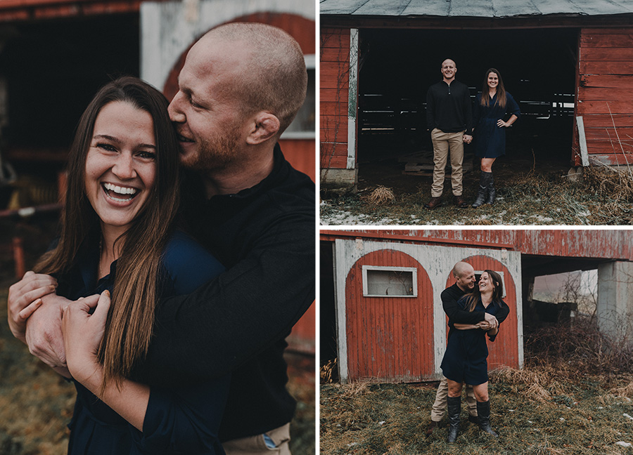Rustic, Fog Engagement Photo Shoot [Terry Farms Photography]