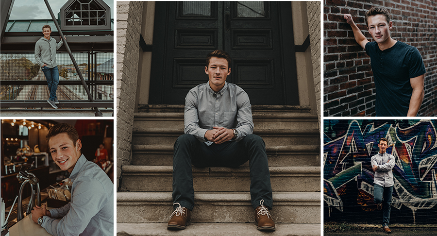 Urban Downtown Senior Boy Photo Session [Terry Farms Photography]